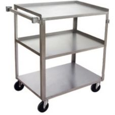 Channel US1827-3 Stainless Steel Utility / Bussing Cart with 3 Shelves