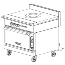 "Vulcan Hart VGMT36C V Series HD 36"" Griddle-Top Gas Range"