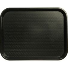 Carlisle® CT141803 Black Cafe Standard Tray - Dozen
