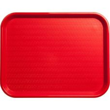 Carlisle® CT141805 Red Cafe Standard Tray - Dozen