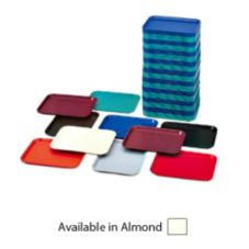 "Vollrath 86126 Almond 14"" x 18"" Fast Food Tray - 12 / CS"