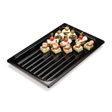 "Cambro® DT1220CW110 Black 12"" x 20""  Camwear® Display Tray"