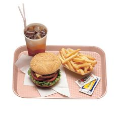 "Cambro® 1216FF409 Blush 12"" x 16"" Fast Food Tray - Dozen"