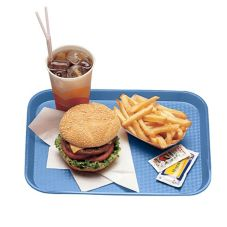 "Cambro® 1216FF168 Blue 12"" x 16"" Fast Food Tray - Dozen"