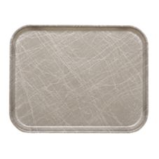 Camtray 1520215 Abstract Grey 15 x 20-1/4 Rectangle Tray - 12 / CS