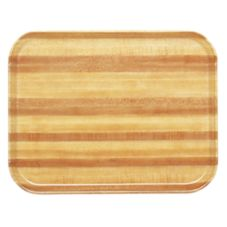 Camtray 1418303 Light Butcher Block 14 x 18 Rectangle Tray - Dozen
