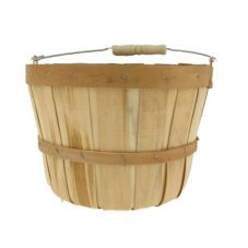Texas Basket Co. 530 Natural Wood Half Peck Basket With Handle