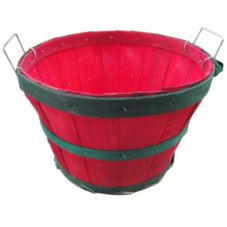 Texas Basket Co. 150 Half Bushel Basket With Red / Green Hoops