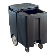 Cambro ICS175TB110 Black Tall Height SlidingLid 175 Lb. Ice Caddy