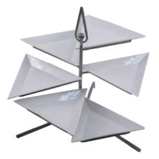 "Dover Metals Steel Plate Stand w/ Six 12"" Triangular Plates"