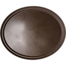 Carlisle® 2700GR076 Griptite™ Tan Oval Tray