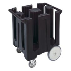 Cambro DC825110 Black Fixed 4-Column Dish Caddy, Plate Size 8-1/4""