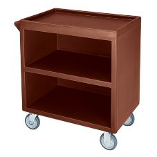 "Cambro Dark Brown Closed Side 3-Shelf Service Cart w/ 5"" Casters"