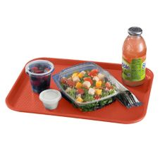 "Cambro® 1216FF163 Red 12"" x 16"" Fast Food Tray - Dozen"