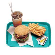 "Cambro® 1216FF414 Teal 12"" x 16"" Fast Food Tray - Dozen"