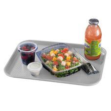 """Cambro® 1216FF107 Pearl Gray 12"""" x 16"""" Fast Food Tray - Dozen"""
