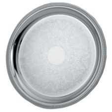 Elegant Reflections Round Mirror Finish S/S Serving Tray, 18-5/8