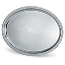 Vollrath 82111 Elegant Reflections 21-3/4 x 16 Oval S/S Serving Tray