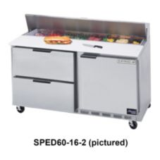 Beverage-Air SPED60-16-4 Elite Refrigerated Counter w/ 16 Pan Openings