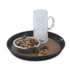 "Vollrath 86338 Brown Round Cork-Lined Laminated 12-1/2"" Beer Tray"