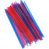 "Cell-O-Core PTC8 Red And Blue 8"" Collins Straws - 5000 / CS"