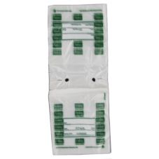 Full Saddle Friday Daily Preportioning Bags, Clear w/ Green, 6.5 x 7