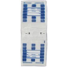 Full Saddle Monday Daily Preportioning Bags, Clear w/ Blue, 6.5 x 7