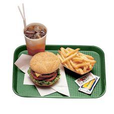 "Cambro 1014FF119 Sherwood Green 10"" x 14"" Fast Food Tray - Dozen"