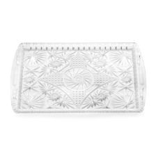 "Tablecraft 18"" Rectangular Plastic Crystalware Tray"