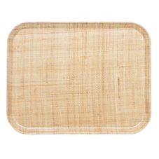 Cambro 1418204 Camtray® 14 x 18 Rattan Rectangle Tray - Dozen