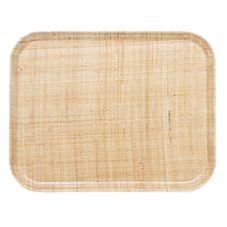 Cambro 1418204 Camtray® 14 x 18 Rattan Rectangle Tray - Dozen