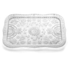 "Tablecraft 22"" Rectangular Plastic Crystalware Tray"