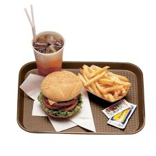 "Cambro® 1418FF167  Brown 14"" x 18"" Fast Food Tray"
