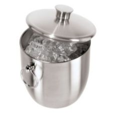 OGGI™ 7044 Stainless 3 Qt. Double Wall Ice Bucket with Tongs