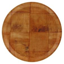 "Adcraft® WWP-9K 9"" Woven Wood Round Plate - Dozen"