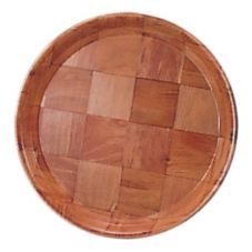 "Adcraft® WRT-11 11"" Woven Wood Bar Serving Tray - Dozen"