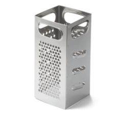 "TableCraft SG201 4"" x 4"" x 9"" Stainless Square Grater"