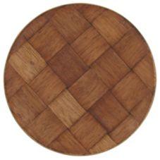 "Weavewood 7M Woven Mahogany 7"" Plate - Dozen"