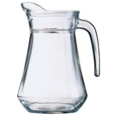 Cardinal E7254 Arcoroc Glass 44 Oz Serving Pitcher / Pour Lip - 6 / CS
