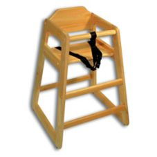 Adcraft® HCW-1 Natural Hardwood High Chair