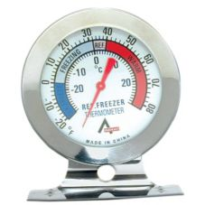 Adcraft® FT-2 Stainless Steel Refrigerator / Freezer Thermometer