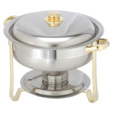 S/S Gold Royale 4 Qt Round Chafer