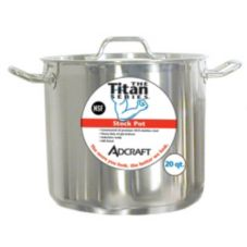 Adcraft SSP-24 Titan Series 24 Qt. S/S Induction Stock Pot With Cover