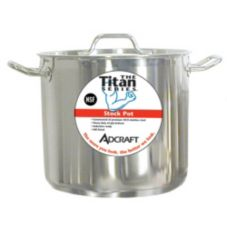 Adcraft Titan Series™ 32 Qt. S/S Induction Stock Pot With Cover