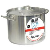 Adcraft SSP-40 Titan Series 40 Qt. S/S Induction Stock Pot With Cover