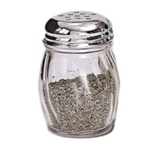 Adcraft 6 Oz Glass Cheese / Spice Shaker w/ Chrome Top