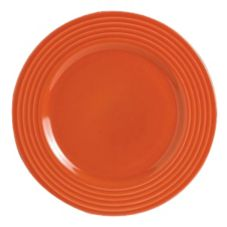 "Steelite B075P307 Anfora Tiffany Coral Red 9"" Plate - 24 / CS"