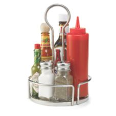"TableCraft DIA679 Versa Rack™ 6.8"" Stainless Condiment Rack"