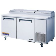 Turbo Air TPR-67SD S/S Super Deluxe 2-Section Pizza Prep Table