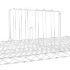 "Metro® DD21W Super Erecta® White 21"" x 8""H Shelf Divider"